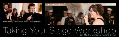 Taking Your Stage Workshop presented by Elisabeth Scott Daley, WED® & Peter Merry, WED®